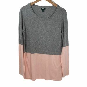 Roots Sweater Long Sleeve Colour Block Grey Tunic